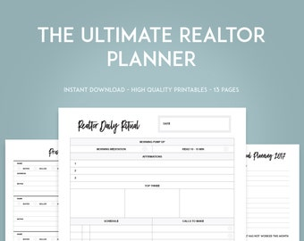 2017 VERSION - Real Estate Goal Setting Printables - INSTANT DOWNLOAD - Realtor goal tracker - Realtor Prospecting sheets -Open house signin