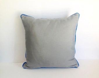 Outdoor Sunbrella Grey Pillow, Grey Outdoor Cushion, UV Ray Resistant Pillow