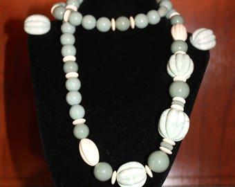 AVON, Vintage Necklace,  Burst of Spring, Vintage Earrings, 1970, 1980, Vintage Jewelry
