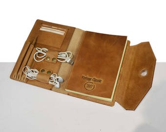 Leather Portfolio - Document Folder - Leather iPad Case - Leather Organizer - Notepad Cover - Leather iPad Smart Cover