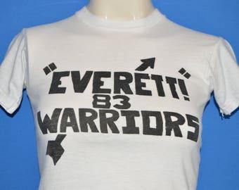 80s Everett Warriors 1983 Wrestling t-shirt Youth Medium