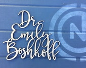 "Personalized Office Door Sign, 13"" inch wide max, Laser Cut Wood Office Name Sign, Custom Door Sign, Doctors Office Sign Gift Wooden Sign"