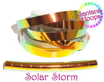 Solar Storm Color shifting Morph Taped Performance Hula Hoop Polypro or HDPE