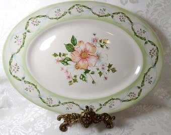 Serving Platter from The Cottage Trellis Collection by Tracy Porter,