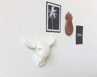Dollhouse Bull Skull