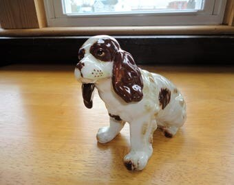 Springer Spaniel Brown And White Porcelain Dog Figurine