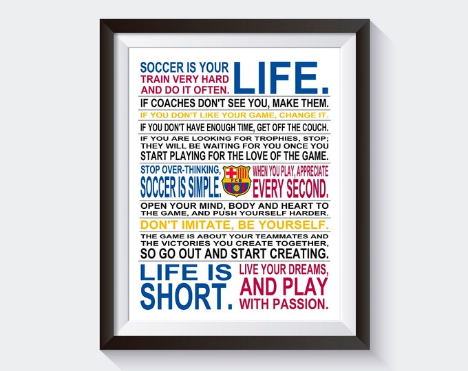 Soccer Is Your Life - *Limited Edition FC Barcelona* Manifesto Print