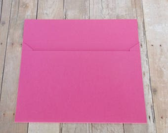 Hot Pink Matte Envelopes - 4x6 (A6) Mailable - Greeting Cards, DIY Invitation Envelopes, Wedding, Birthday, Shower Invitations - Set of 10