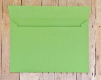 Lime Green Matte Envelopes - 4x6 (A6) Mailable - Greeting Cards, DIY Invitation Envelopes, Wedding, Birthday, Shower Invitations - Set of 10