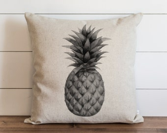 Pineapple_Black and White 20 x 20 Pillow Cover // Everyday // Throw Pillow // Gift // Accent // Cushion Cover