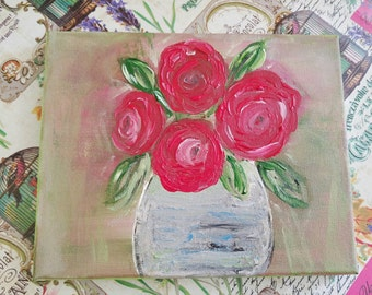 Beautiful Red Bouquet Painting
