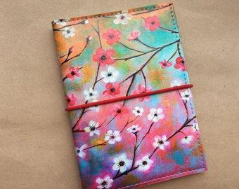 RFID Passport cover 2 passports, ID, SD,Sim, cards -Passport holder-Passport wallet-Passport Case -Graduation Women gift for her- Sakura