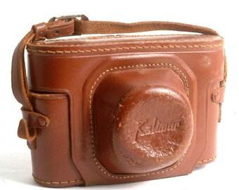 Vintage Leather Kalimar Rangefinder Camera Case 35mm Cameras