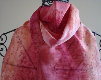 Unique Hand Painted Silk Scarf, 20cm x 130cm