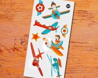 Temporary Tattoos - Planes
