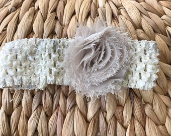 Shabby Chic Crochet Headband