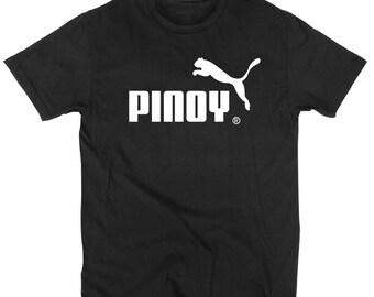PINOY filipino Philippines Puma Spoof Shirt Mens T shirt