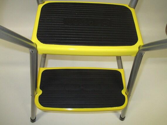 Vintage Restored Cosco Kitchen Utility Flip Seat Step Stool