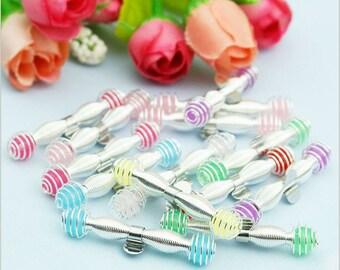 8PCS/Pack Children Spring Hair Clip Accessories,D.I.Y Hair Clip Supplies