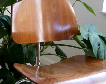 Eames Herman Miller Chair Plywood Bentwood Chair Mid Century Danish Modern LCM Atomic Dining Office Chair