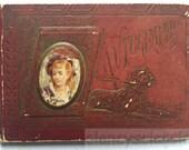 1880s Autograph Poetry Book Victorian Nettie Hansen student Portland Oregon
