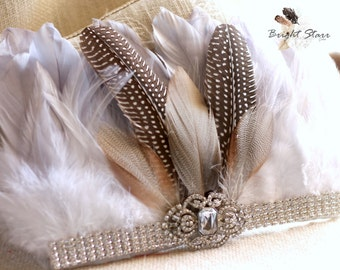 headpiece wedding - rhinestone headband - new years headband - couture headband - beach wedding headpiece - headband crown - woodland crown