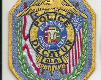 Vintage Decatur Alabama Police Patch