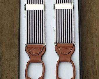 Drexel Fine Stripe jarretels Marine: Circa 1933-collectie