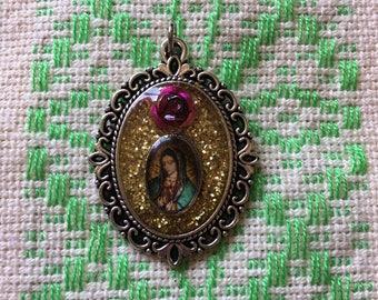 Virgen de Guadalupe Nicho Pendant