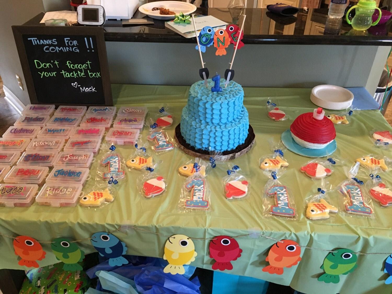 Cake Topper Smash Cake Fish Cake Topper Fishing Birthday