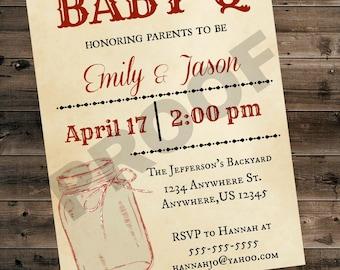 Baby Shower BBQ Invitation