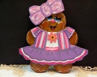 Gingerbread  Large Magnet, Gingerbread Decor, Kitchen Decor, Frigerator Decor,,