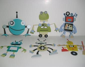 Robot Embellishments - Set of 6