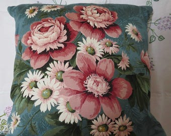 Vintage style Sanderson cushion