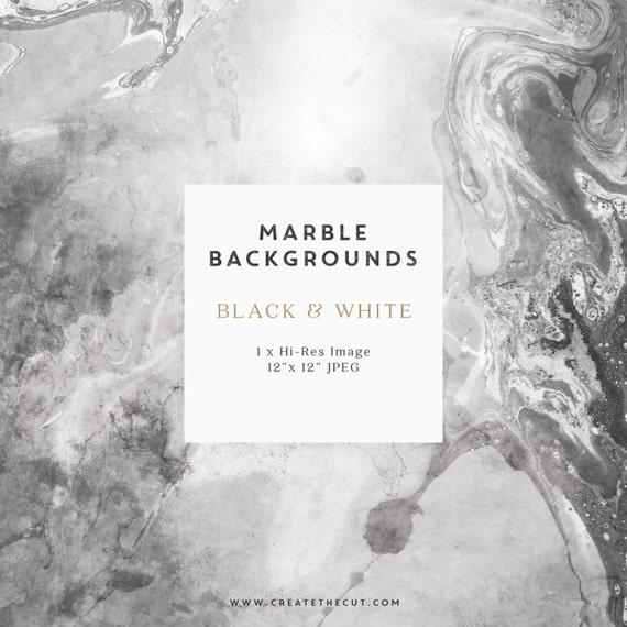 marble background digital paper black  u0026 white 12 by