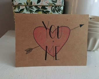 You & Me - Hand Illustrated Blank Card