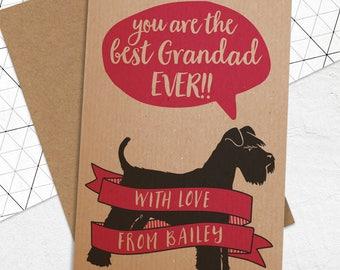 Best Grandad/Grandpa Etc Card with ANY Dog Breed
