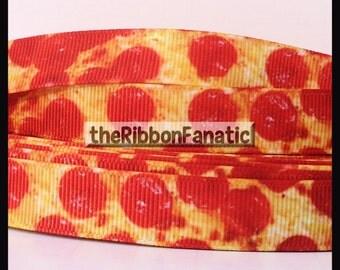 "5 yds 5/8"" Pepperoni Pizza TMNT Grosgrain Ribbon"