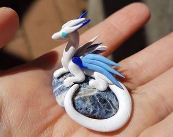 White Miniature Dragon and Sodalite
