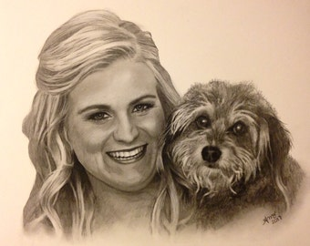 Custom Portrait Drawing, Custom Charcoal Portrait, Portrait from Photo