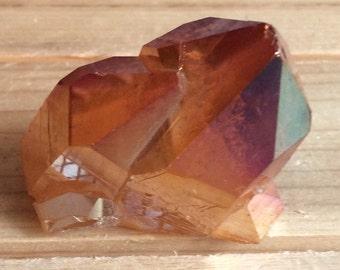 Copper Aura Quartz Crystal Cluster, Healing Crystals, Healing Stones, Spiritual Stone, Gemstone