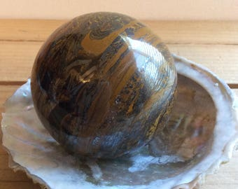 Tiger Iron Sphere 50mm, Healing Stone, Healing Crystal, Chakra Stone, Spiritual Stone, Reiki