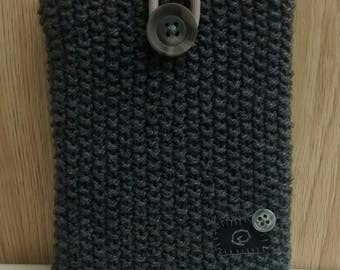 Hand Knit Kindle Case - Grey Voyage Cover - Paperwhite Case - Gifts for Him - Father's Day Gift