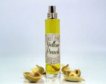 "Parfum ""Yellow Peach"", summer perfume, fruity perfume, fresh perfume, citrus perfume"