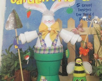 "K Decorative 2000 Tole painting McCall's Creates"" Flower Pot Garden Friends ""  used leaflet 11 pages"