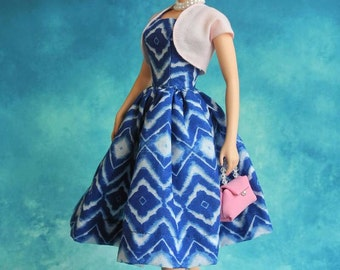 "vintage dress with bolero for Silkstone barbie Dolls and more 12"" dolls"