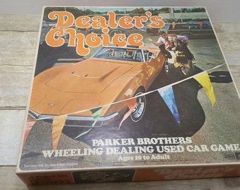 Dealers Choice, 1972, vintage game, Parker Brothers, vintage board game