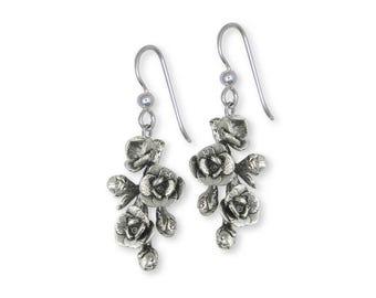 Magnolia Earrings Jewelry Sterling Silver Handmade Flower Earrings MGS1-E