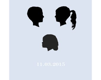 Bespoke silhouette poster/ cufflink