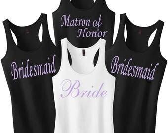 Bridesmaid Shirts, Bachelorette Party Shirts, Bride Tank Top, Bridal Party Tanks, Wedding Shirts, Bridesmaid Tanks, Bridal Party Shirts Gift